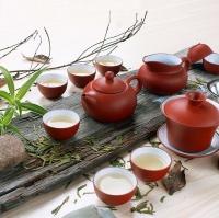 голубой чайный сервиз фото