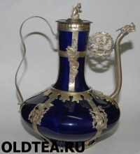 Тибетский чайник из фарфора