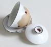 Гайвань и пористой керамики покрытая глазурью